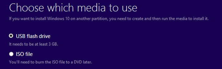 Windows 10 Installation: Choose which Media to use