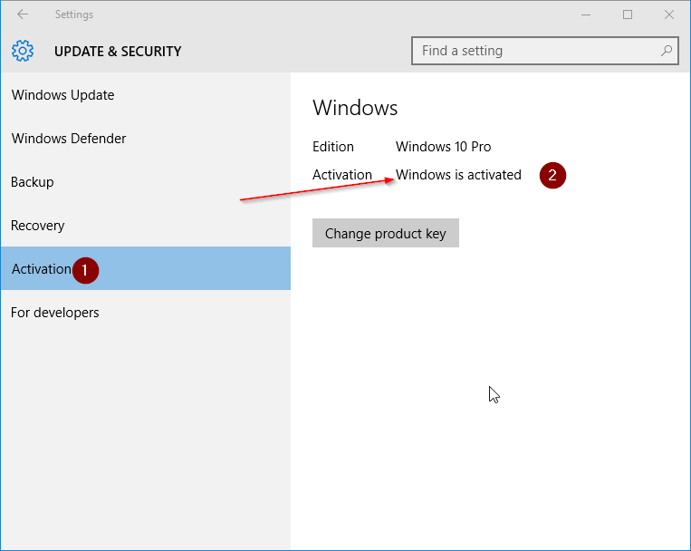 Check if your Windows 10 is activated