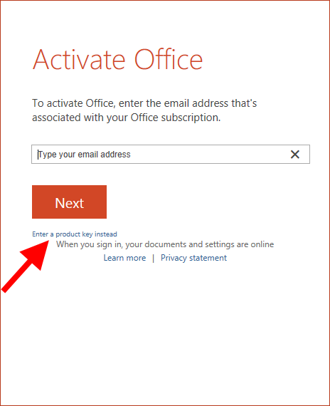 microsoft office activation key 2016