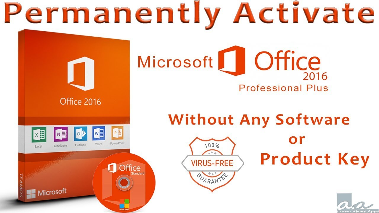 activate outlook 2016 without product key
