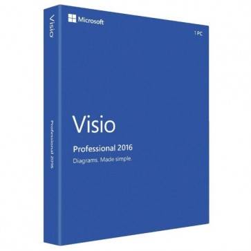 Microsoft Visio Professional 2016 Serial Key 1 PC License Global