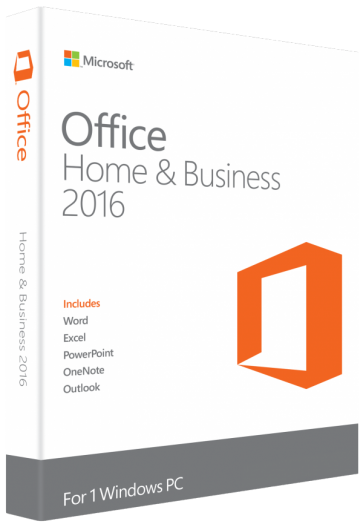 MICROSOFT OFFICE 2016 HOME & BUSINESS FOR WINDOWS LIFETIME LICENSE