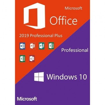 Windows 10 Pro + Office 2019 Professional Plus (Product Key)