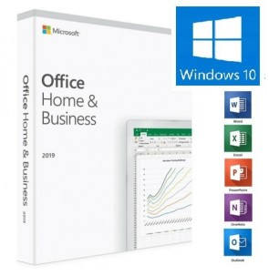 2 x MICROSOFT OFFICE 2019 HOME & BUSINESS WINDOWS GLOBAL LICENSE