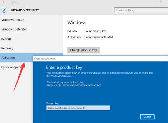 Windows 10 Activation Setp 3.1